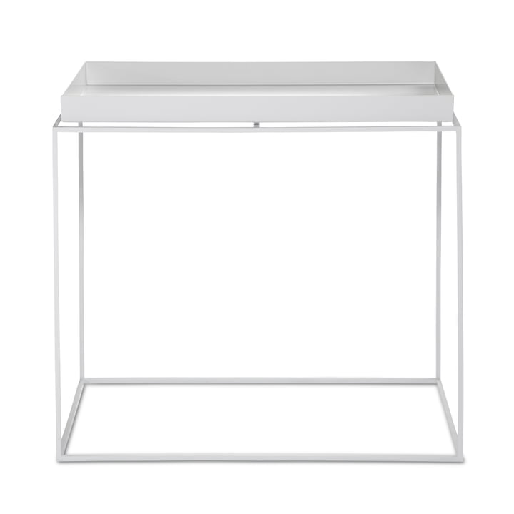 Hay - Tray Table carré, 60 x 40 cm, blanc
