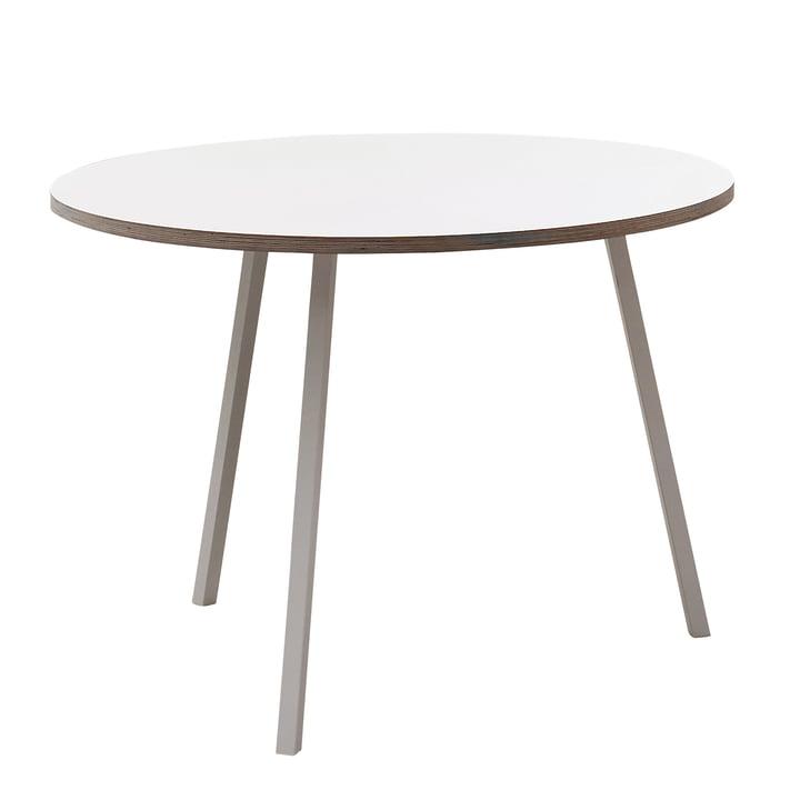 Hay - Loop Stand Round Table, blanc