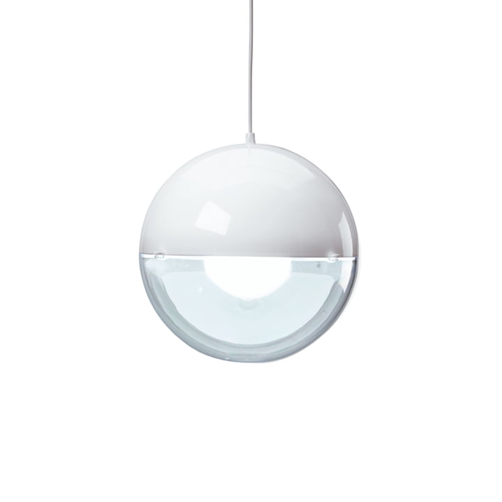 Koziol - Suspension lumineuse Orion, blanc / transparent