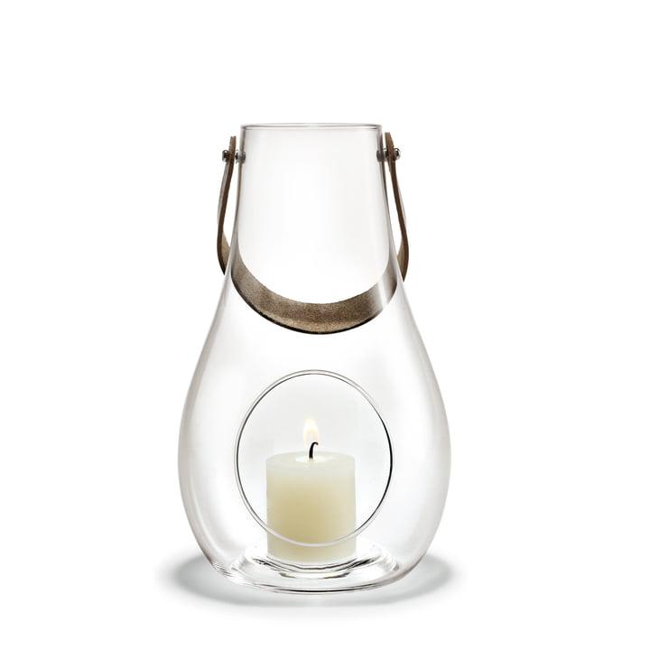 Design avec lanterne légère H 25 cm de Holmegaard en clair