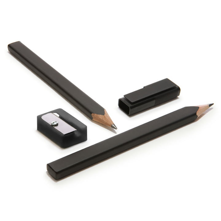 Moleskine - Set de crayons avec taille-crayon et capuchon