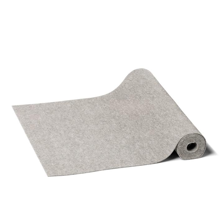 Hey Sign - Chemin de table rectangulaire, gris clair chiné