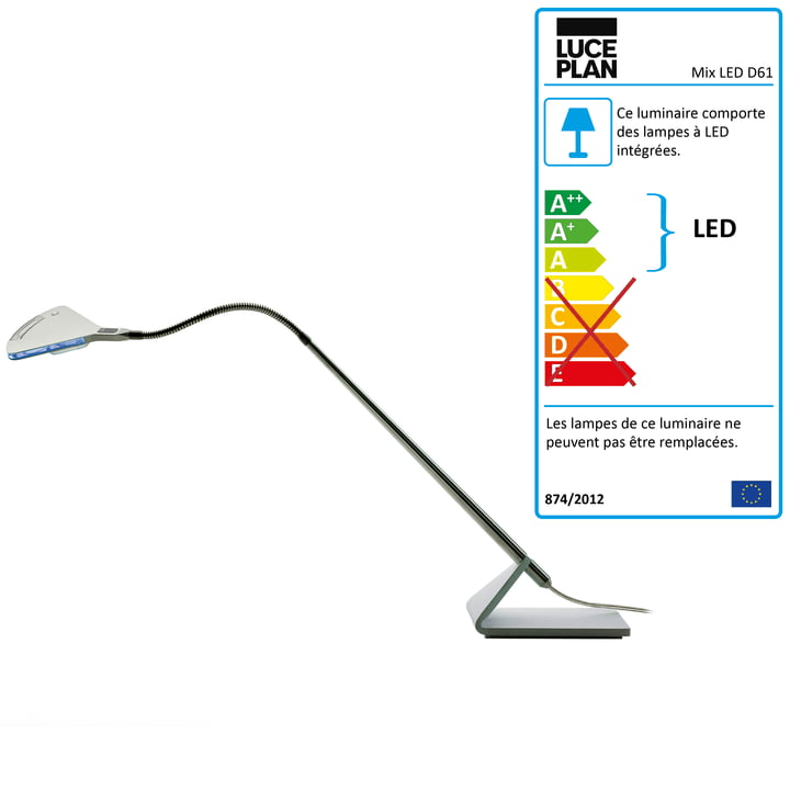 Luceplan - Lampe de travail Mix D61