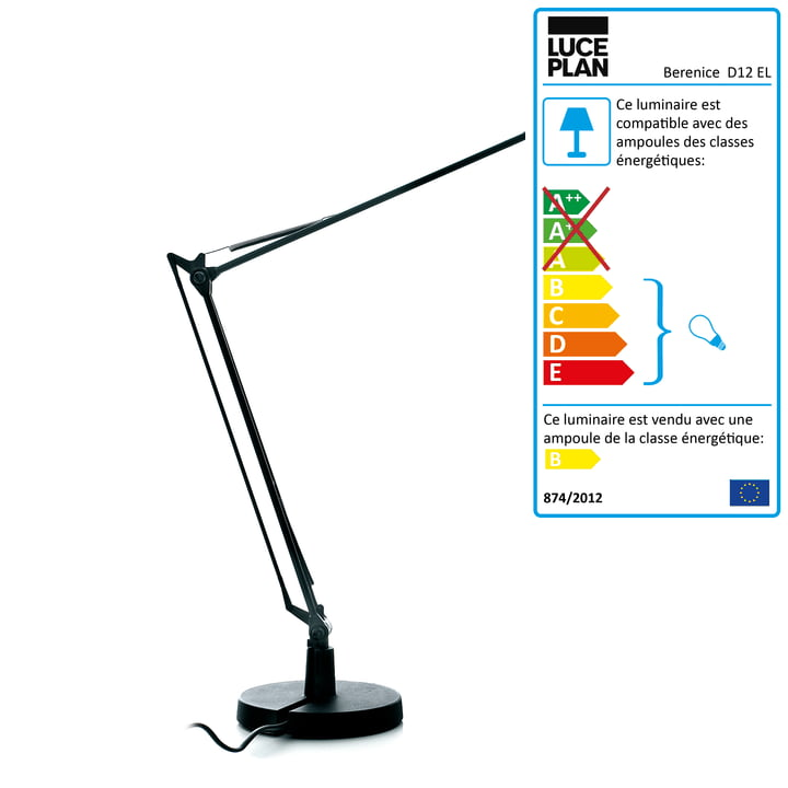 Luceplan - Lampe de table Berenice, noir