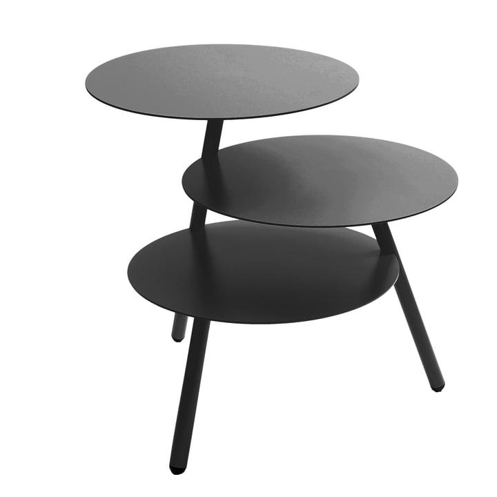 Pulpo - Trio Table d'appoint, noir profond (RAL 9005)