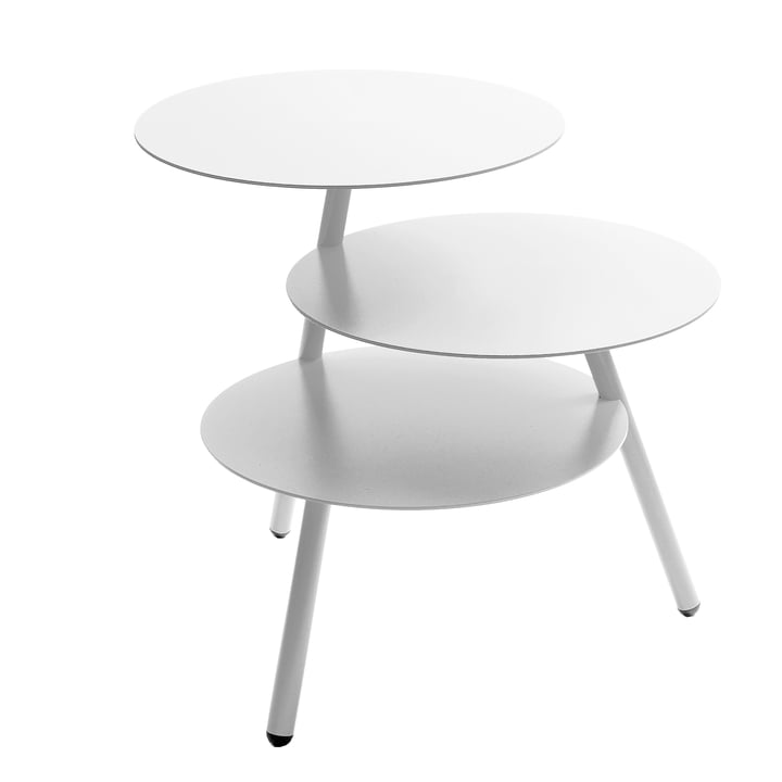 Pulpo - Trio Table d'appoint  , blanc circulation (RAL 9016)