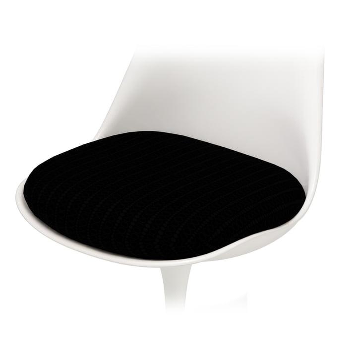 Coussin d'assise pour Knoll - Chaise Saarinen Tulip - Hopsack, noir