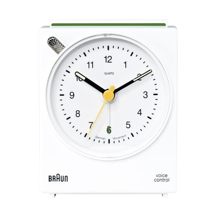 Réveil à commande vocale de Braun BNC004, blanc
