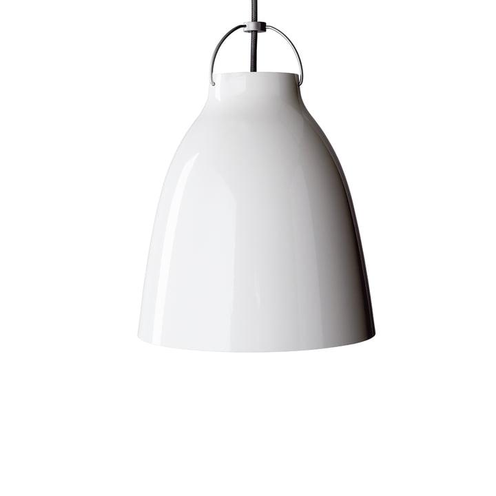 Suspension lumineuse Caravaggio P1 de Fritz Hansen en blanc brillant