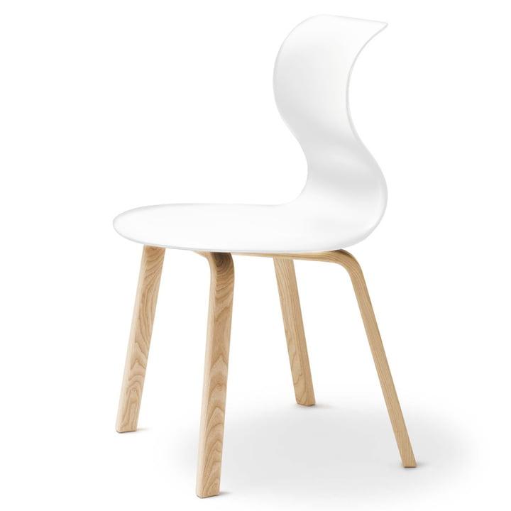 Flötotto  Pro 6 Chaise, piètement quatre pieds en bois, blanc
