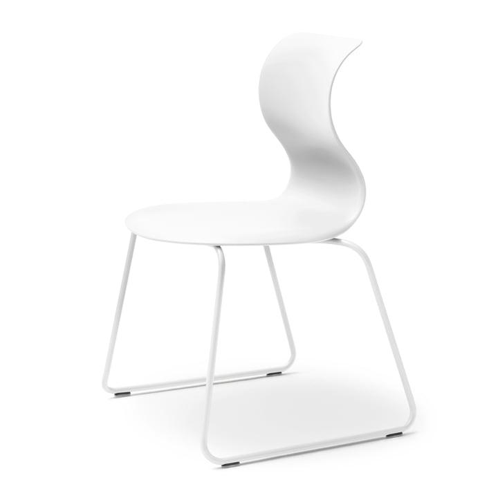 Flötotto – Chaise Pro 6, piètement blanc neige, coque de siège blanc neige
