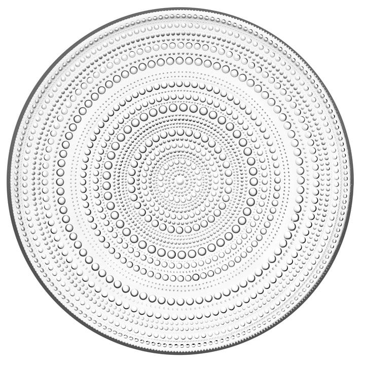 Kastehelmi plaque Ø 31,5 cm de Iittala en clair