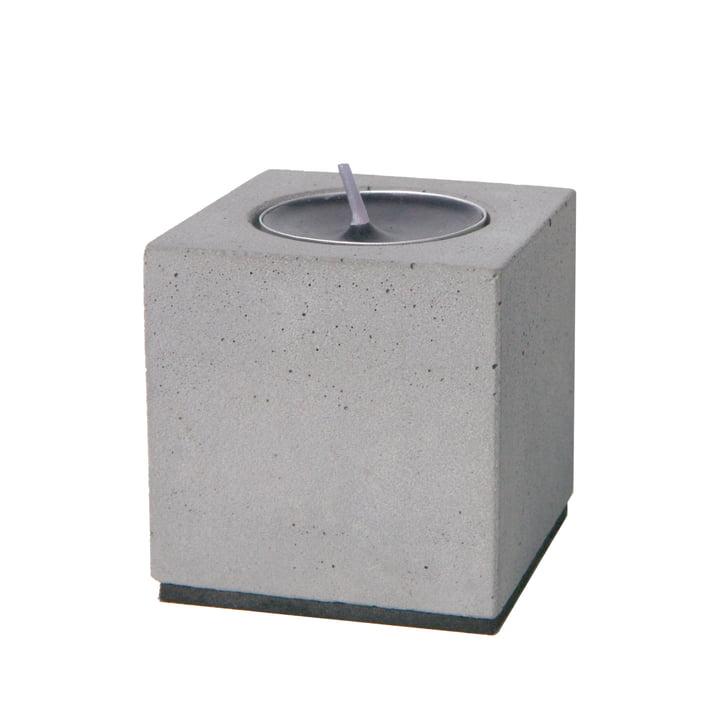« Block »  bougeoir pour bougie chauffe-plat