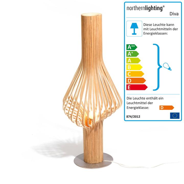 northernlighting - Diva Floor, lampadaire, Oak