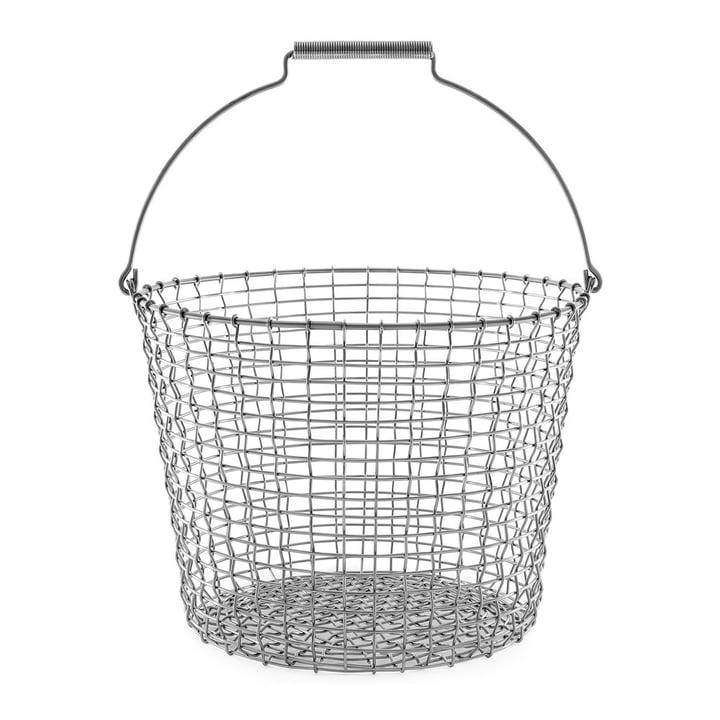 Corbeille en fil métallique Bucket 24 de Korbo en acier inoxydable
