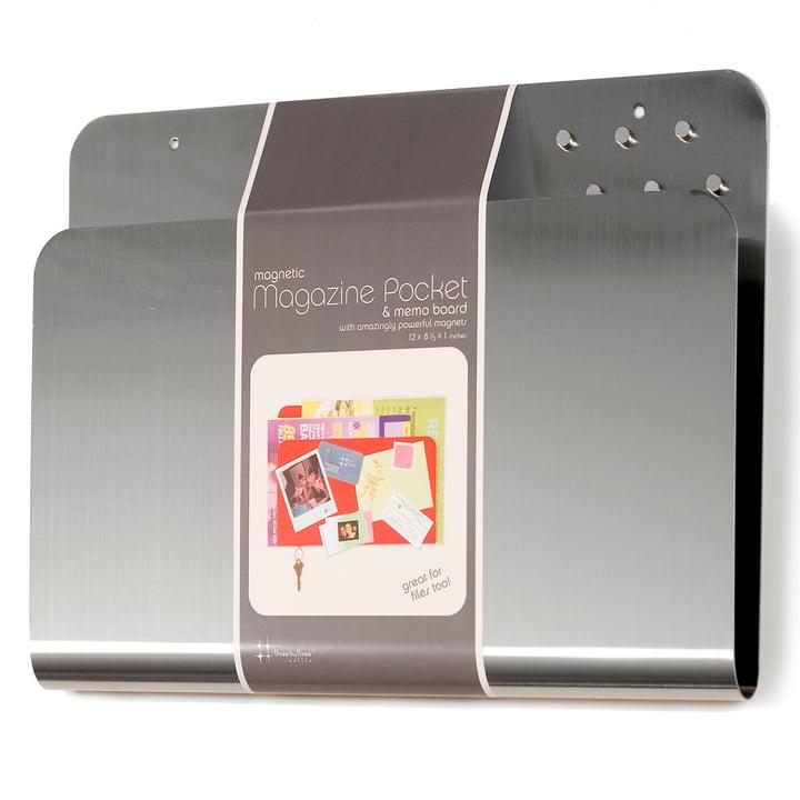 ThreeByThree - Magazine Pocket, argenté