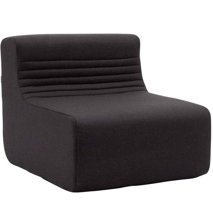 Softline - Canapé modulable Loft Indoor, élément individuel, feutre gris foncé