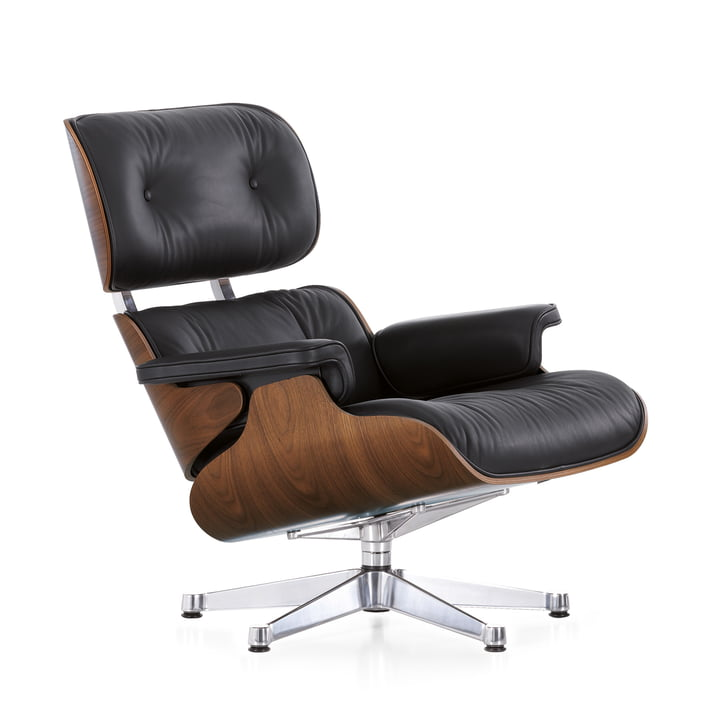 vitra lounge chair en noyer noir. Black Bedroom Furniture Sets. Home Design Ideas