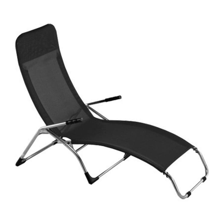 Fiam - chaise longue Samba, aluliminium /  noir