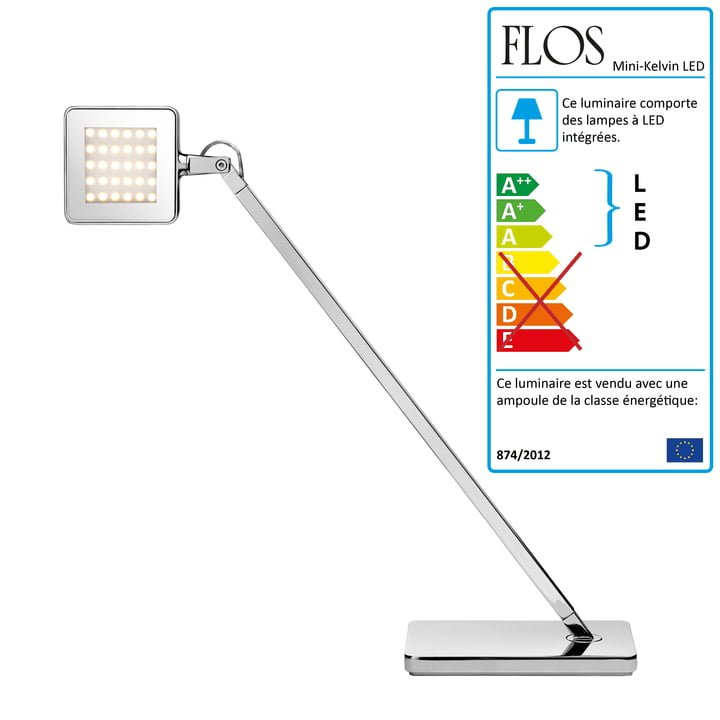 Flos - Mini-Kelvin LED lampe de table, argent