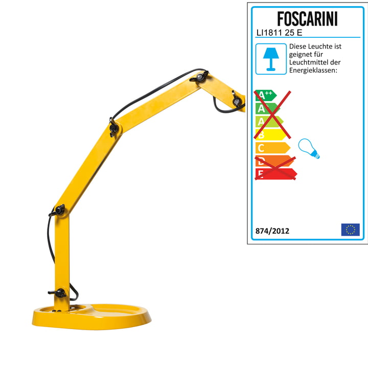 Diesel Living - Lampe de table Duii, jaune