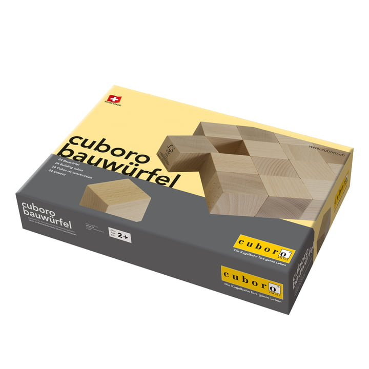 Cuboro - Boîte complémentaire pour circuits de billes, dés de construction - Emballage