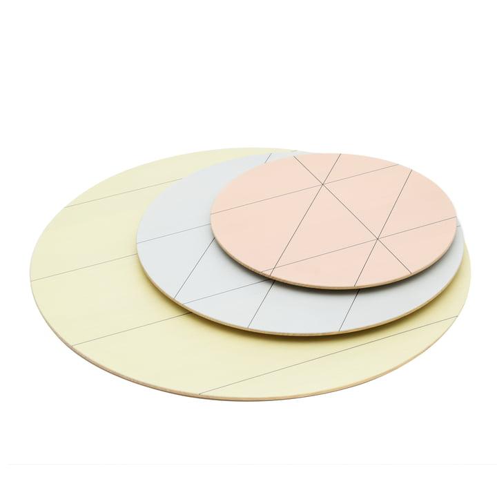 Karimoku - Assiettes Colour Platter (lot de 3), sun