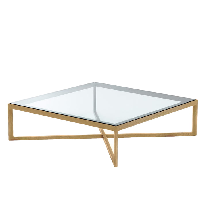 Knoll - Table basse, chêne/plateau de verre