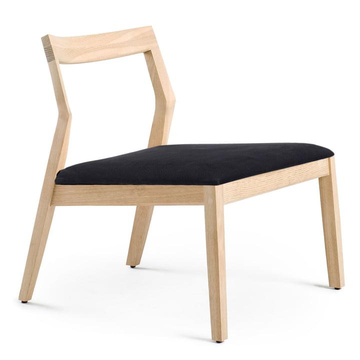 Knoll - Lounge Chair sans accoudoirs, chêne/noir Divina