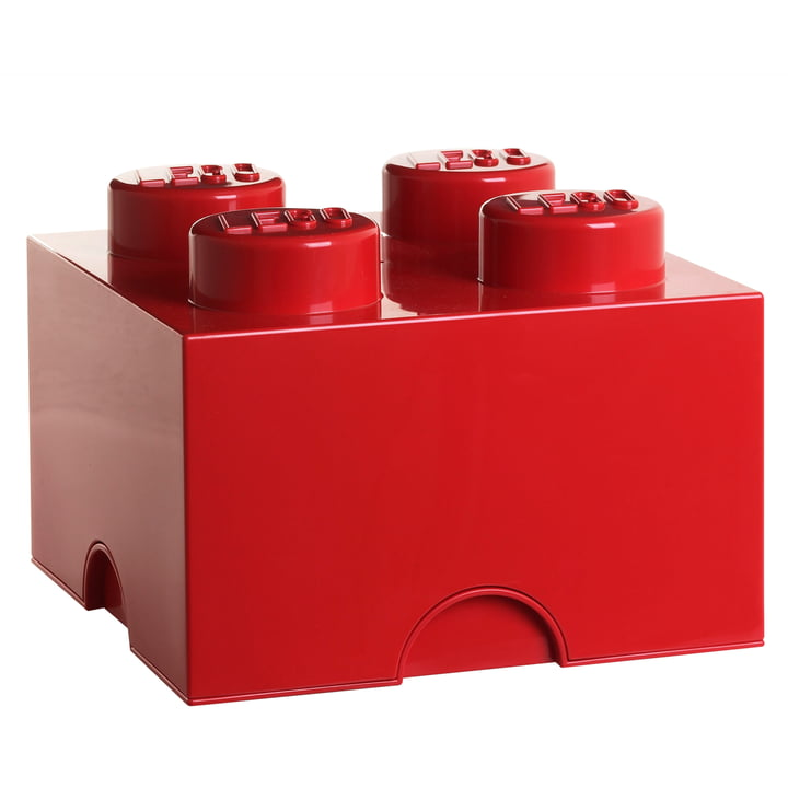 Lego - Storage Box 4, rouge