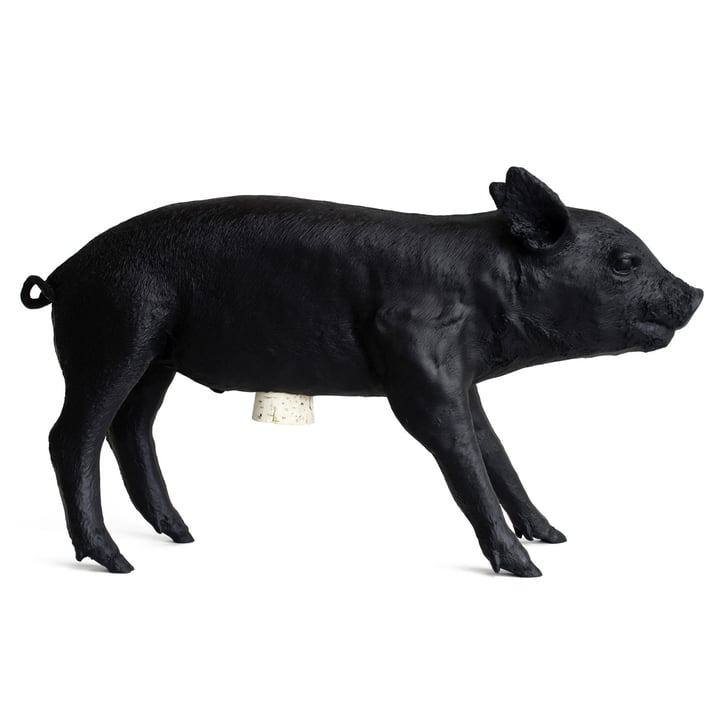 Areaware - tirelire Pig Bank, noir mat