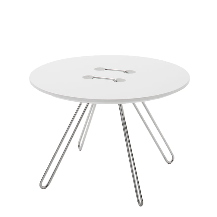 Casamania - Table d'appoint Twine, Ø 50 cm, blanc