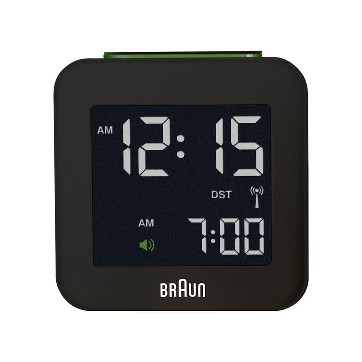 Braun - Radio-réveil numérique BNC008, noir - Face avant