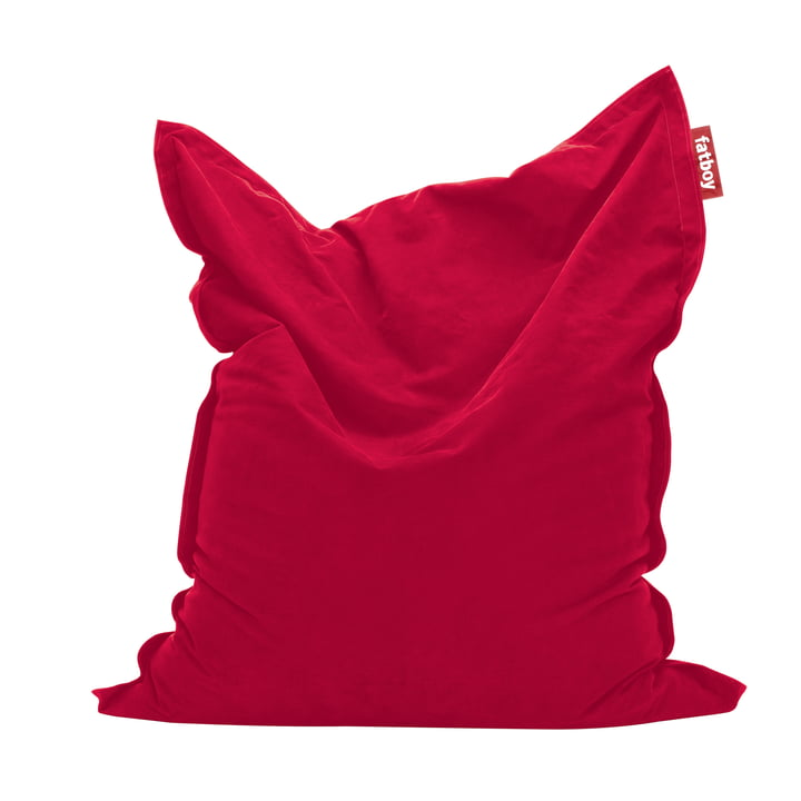 fatboy original - Pouf Stonewashed, rouge