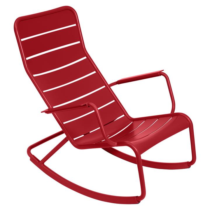 Luxembourg Rocking chair de Fermob en rouge coquelicot