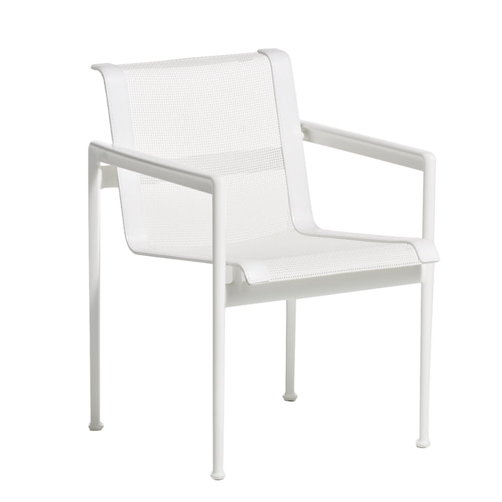 Knoll - Chaise 1966, rectangulaire, blanc