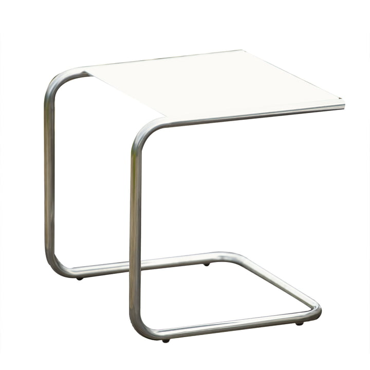 Fiam - Table d'appoint Club, aluminium blanc