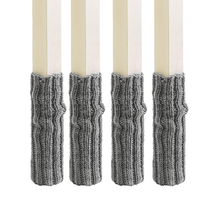 side by side - Chaussettes (Set de 4) pour pieds de chaise, gris