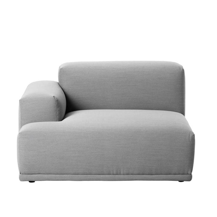 Muuto - Connect canapé, élément d'angle, accoudoir gauche, Remix 123
