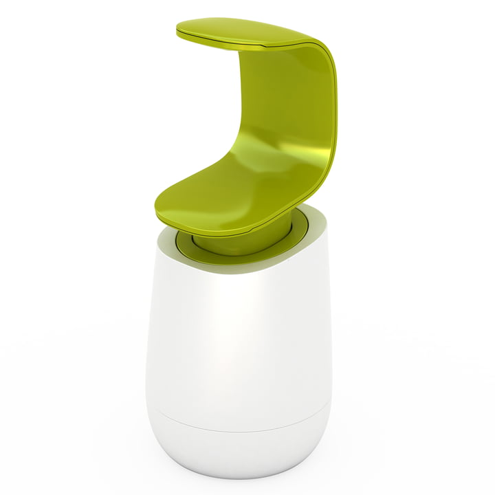 Joseph Joseph - Distributeur de savon C-pump, blanc/vert