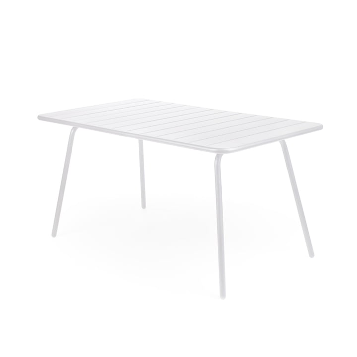 Fermob - table Luxembourg, rectangulaire, blanc