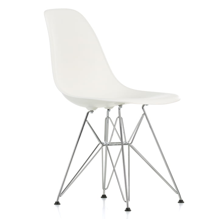 Chaise Eames Plastic Side Chair DSR by Vitra en chrome / blanc