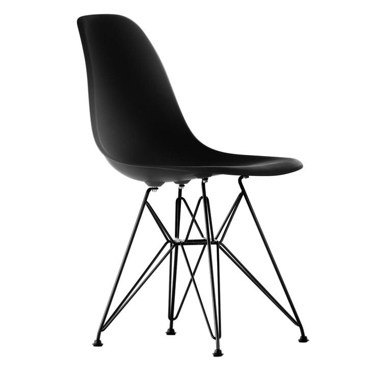 Vitra - Eames Plastic Side Chair DSR, noir / basic dark, feutre
