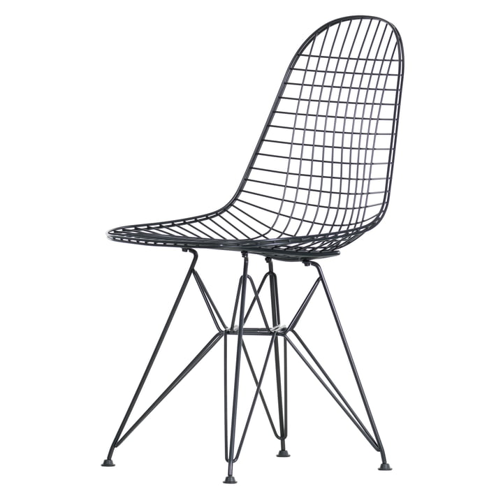 Vitra - Chaise en fil de fer DKR, noir
