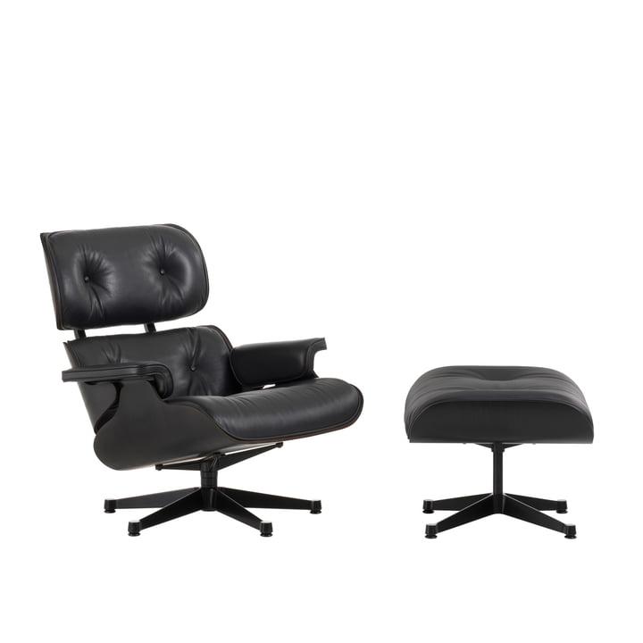 Vitra - Lounge Chair & Ottoman - frêne noir