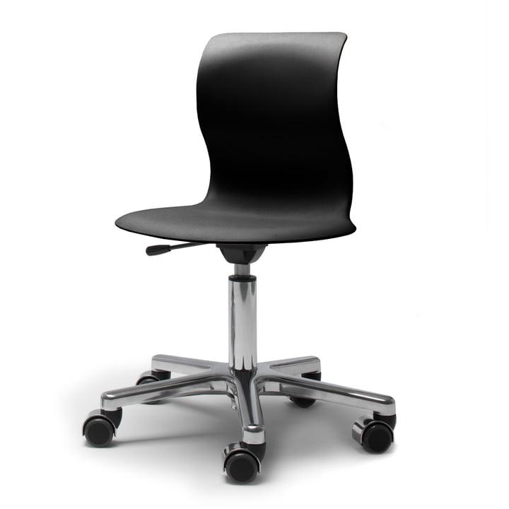 Flötotto, Pro 4 et 5 Chaise pivotante Chrom, coque noir graphite