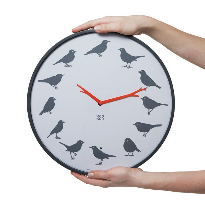 KooKoo - Horloge Ultra Flat, gris - Présentée