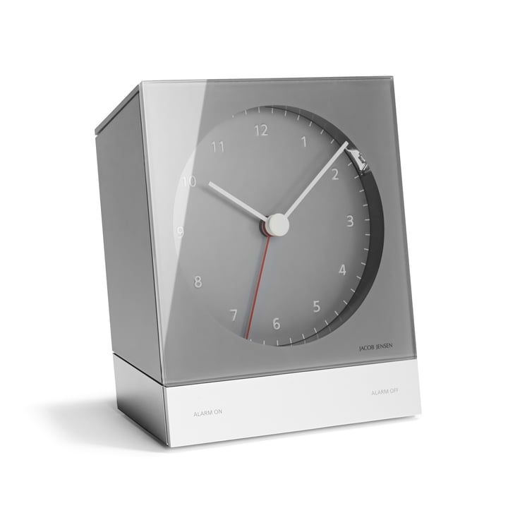 Jacob Jensen - Réveil Alarm Clock Series Quartz 340, gris