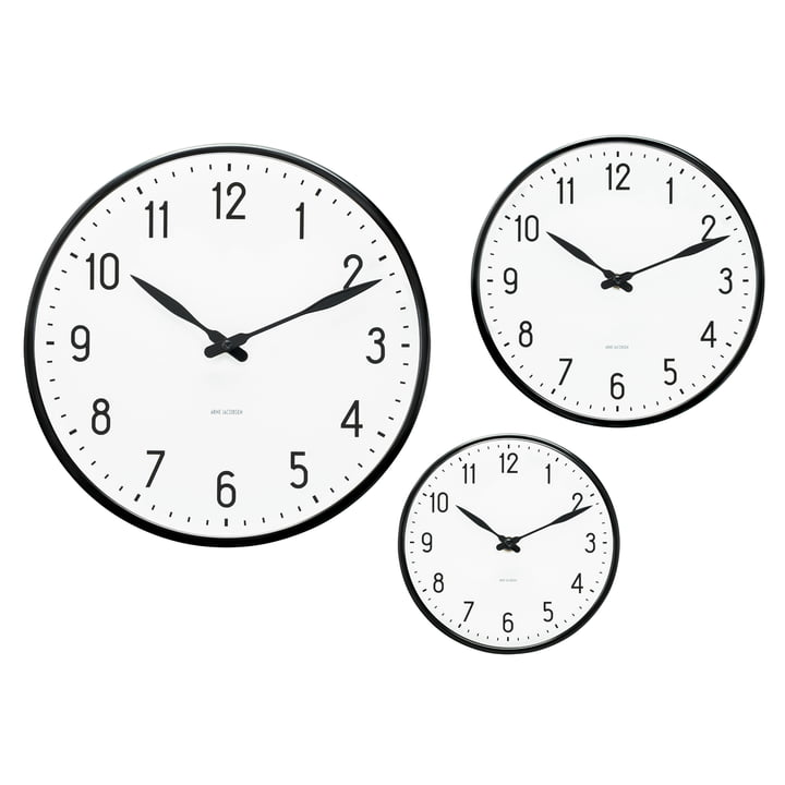 Rosendahl Timepieces - Horloge murale AJ Station - Groupe, tailles