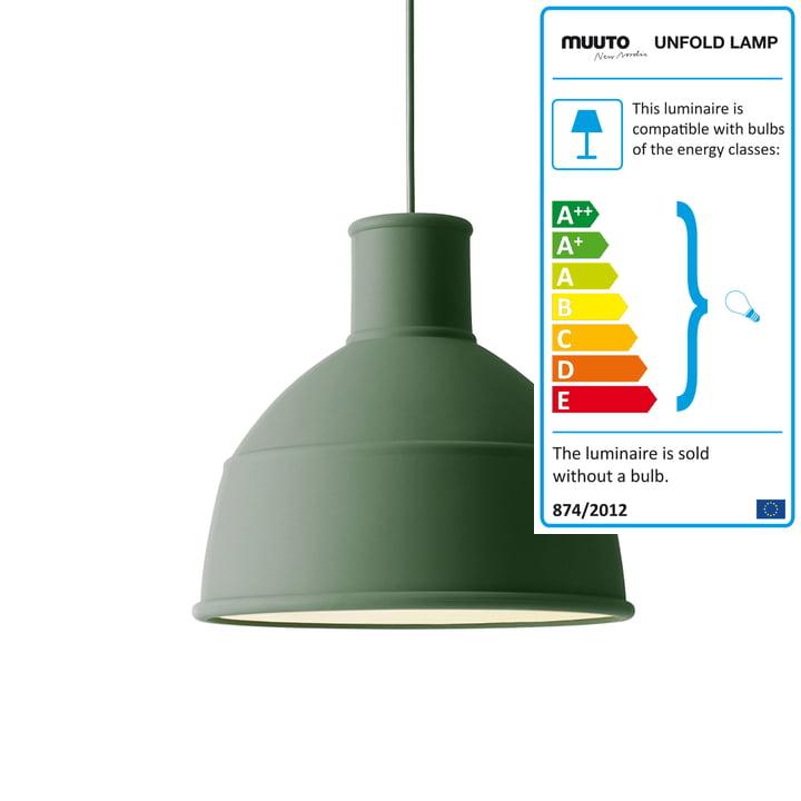 Muuto - Unfold Lampe à suspension, vert